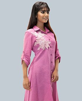 Long Shirt with Embroidery