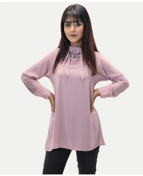 Long Sleeve H-Neck Design Shirt